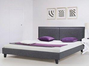 Bild: Polsterbett 140x200 cm - Bett - Stoffbett inkl. Lattenrost - Doppelbett - Grau - REVE