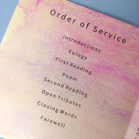 11 best Funeral order of service images on Pinterest Funeral - invitation for funeral ceremony