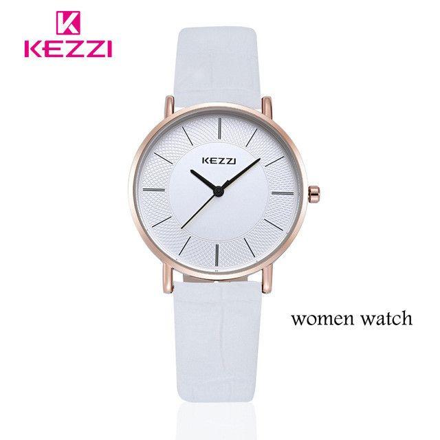 New Arrival KEZZI Leather Strap Quartz Watches Fashion Formal Analog Japan Movement Waterproof Ladies Dress Watch Clock Women