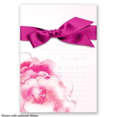 Ombre Elegance Wedding Invitation In Begonia Pink By Davidu0027s Bridal # Invitations #Pinkweddings #davidsbridal