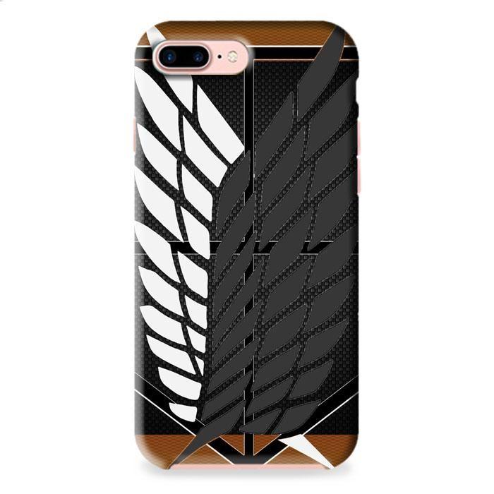 Attack On Titan Logo Carbon Custom iPhone 7 Plus 3D Case Dewantary