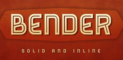 Font Inspirations: Bender
