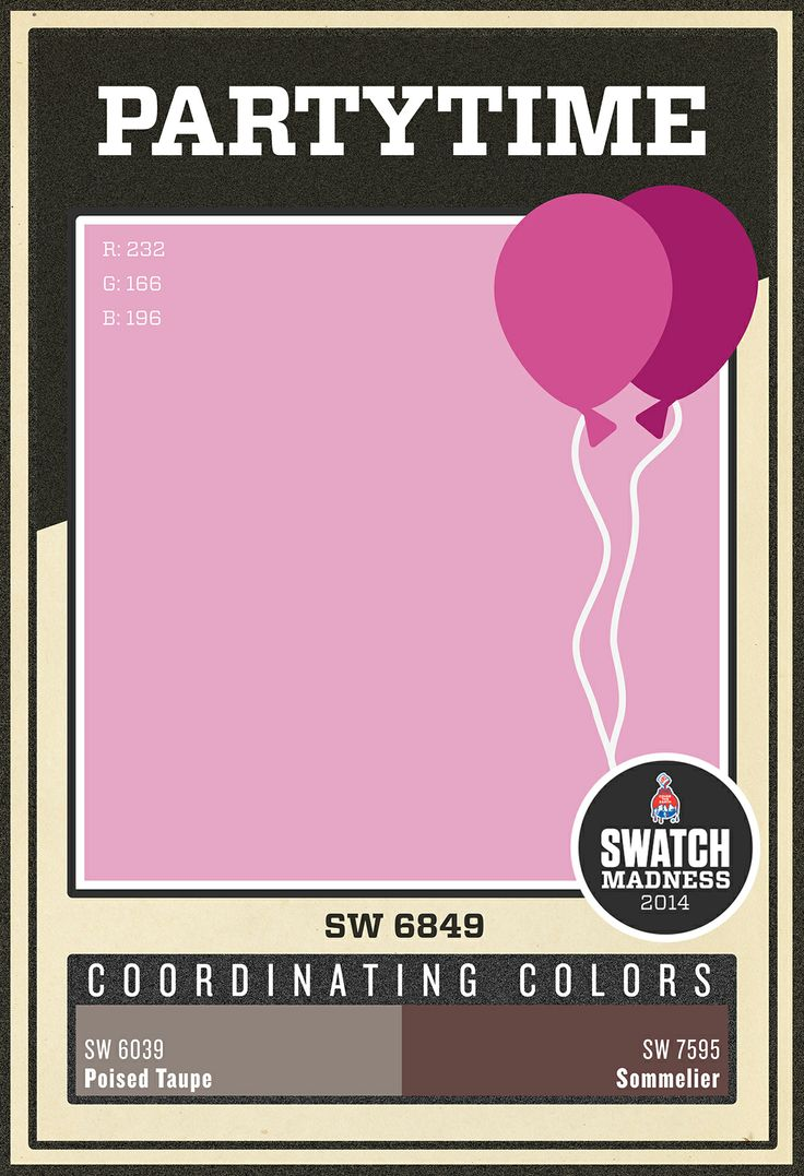 pink paint color partytime sw