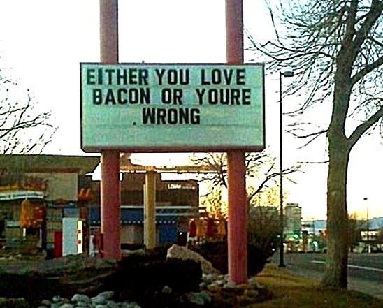False Dilemma Fallacy- There are only two reasons listed when there could be more reasons why someone doesn't love bacon.