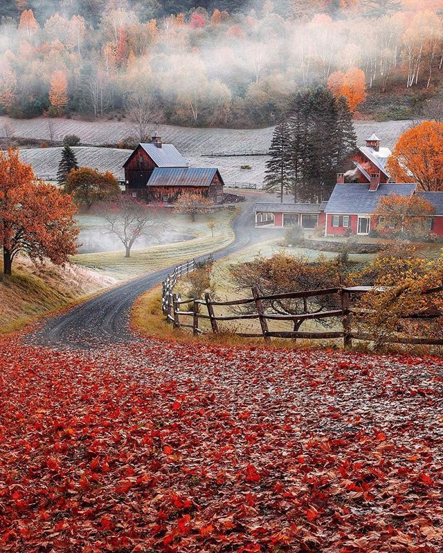 Sleepy Hollow Farm Cloudland Road Woodstock Vermont Usa Photo