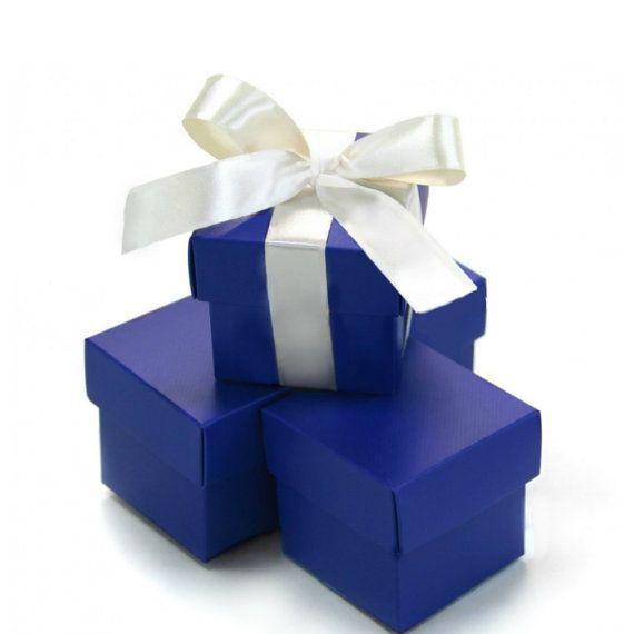 Royal Blue Wedding Favors  Wedding Favor Box  by GlitterMeSweet