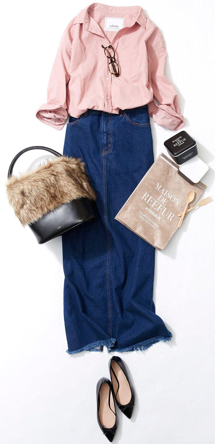 デニムスカートで細見えカントリールック! ルミネ新宿のアイテムを使ってデニムの着こなしバリエーションをご紹介。人気スタイリスト入江未悠さんが「大人かわいい」をテーマに、上品でまねしやすいスタイリングを提案します!