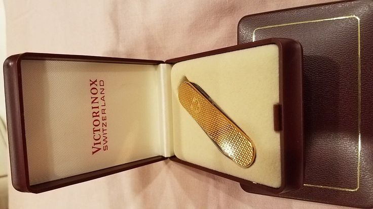 Victorinox Swiss Army Knife, 58mm, gold plated, New | eBay