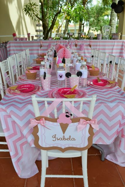 Minnie Mouse Ice Cream Shop Birthday Party tableware