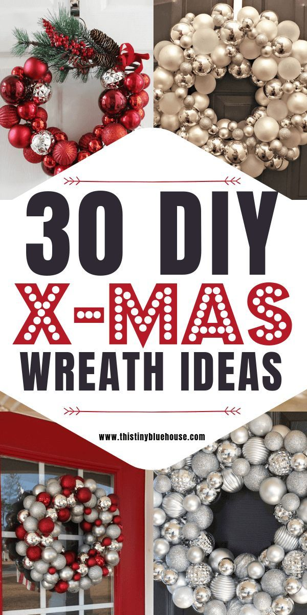 30 Gorgeous DIY Dollar Store Christmas Wreath Ideas