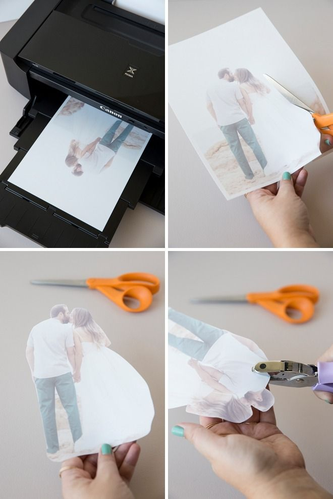 Get crafty with your photos with this cute  DIY photo keychain idea from Something Turquoise! Add a homemade tassel or pom pom for even more flair. But watch out, your best friend will want one, too!