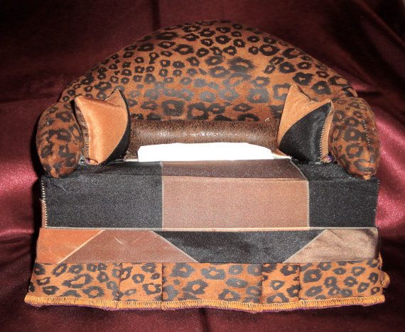A Little Different Tissue Box Couch by VLyzetteCustomBags on Etsy