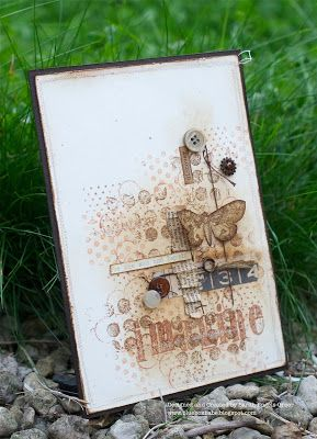 http://blueboxbabe.blogspot.com  i love the layering of stamping on this card.  really lovely