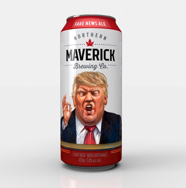 It's the week for controversial beer cans! Canadian beer maker trolls President Trump with release of 'Fake News Ale'