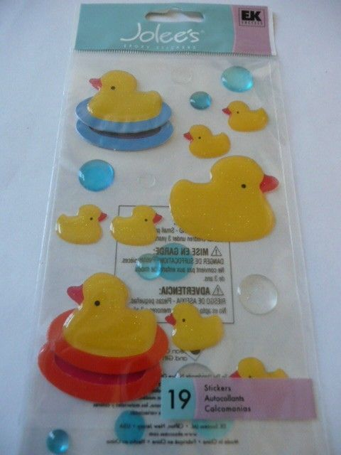 RUBBER DUCKIES Joleeu0027s Boutique Scrapbooking Supplies Stickers  Baby, Bath  Time, Water Play