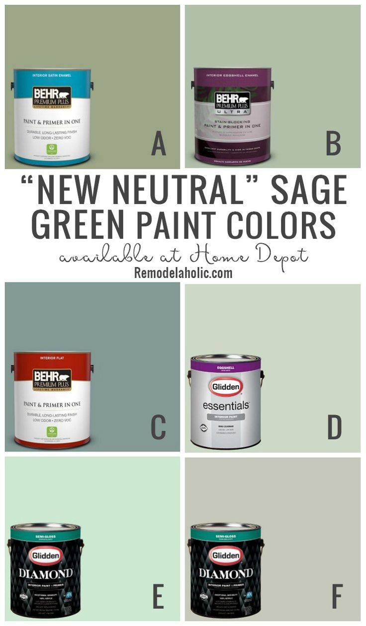 New Neutral Sage Green Paint Colors #Remodelaholic | Sage ...