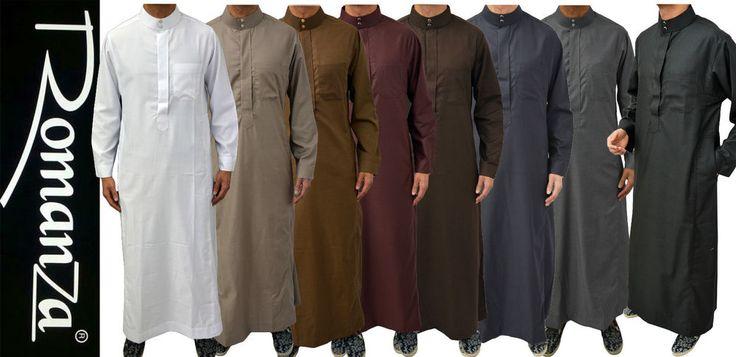 Mens Designer Romanza Jubba Kaftan Dishdash Thobe Galabiyyas Jabbah Arab Robe #Romanza #KaftanJubbaJabbah