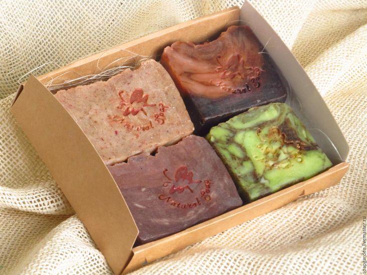"""Купить Подарочный набор мыла """"Фруктовое ассорти"""", для девушки, на 8 марта - комбинированный, набор мыла"""