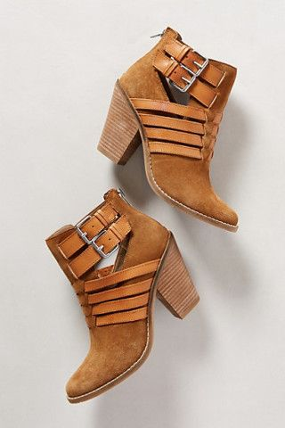 Caramel Brown Strappy Flotilla Booties