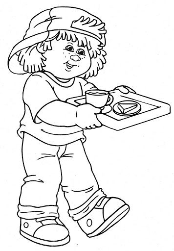 cabbage patch doll coloring pages - photo #38