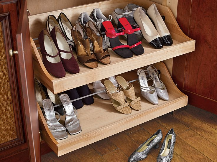 Pull Out Shoe Storage Wood Mode Fine Custom Cabinetry