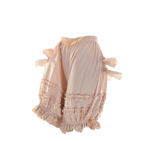 Ivory Tiered Bustle Ruffle Bloomers