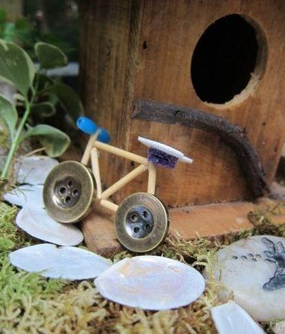 Bicicletas con botones.Ideas -manualidades
