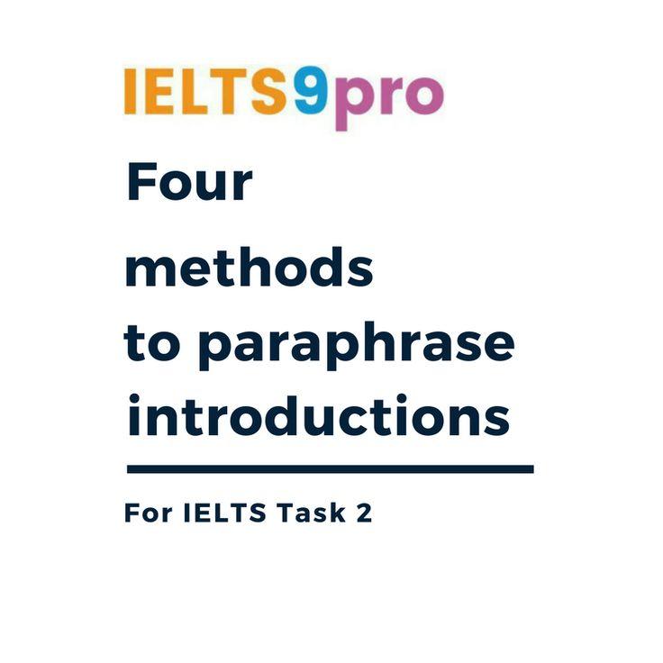 four methods to paraphrase