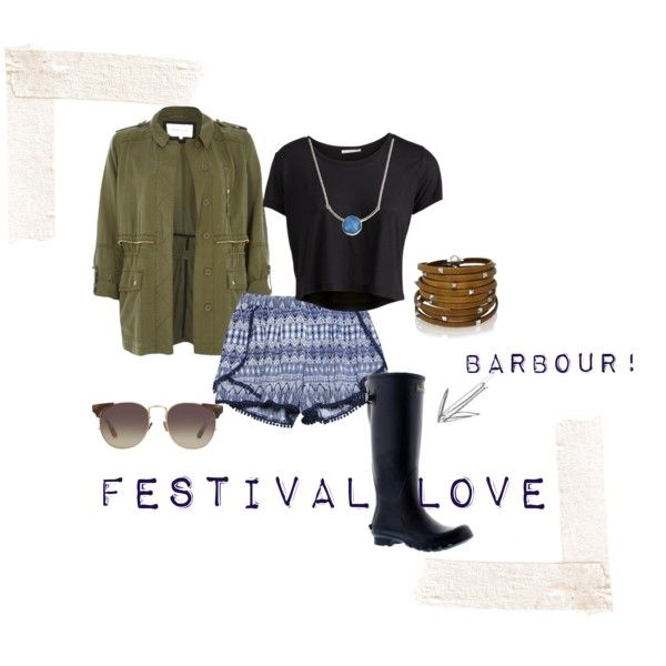 Grungy festival look from Lou at Bells Shoes. Barbour wellies sharpen up this outfit. Free UK delivery and returns