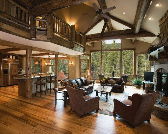 Fabulous Mountain House Design; Living Room Decoration: Stunning Classic Living Rooms For Mountain Homes Leather Sofa