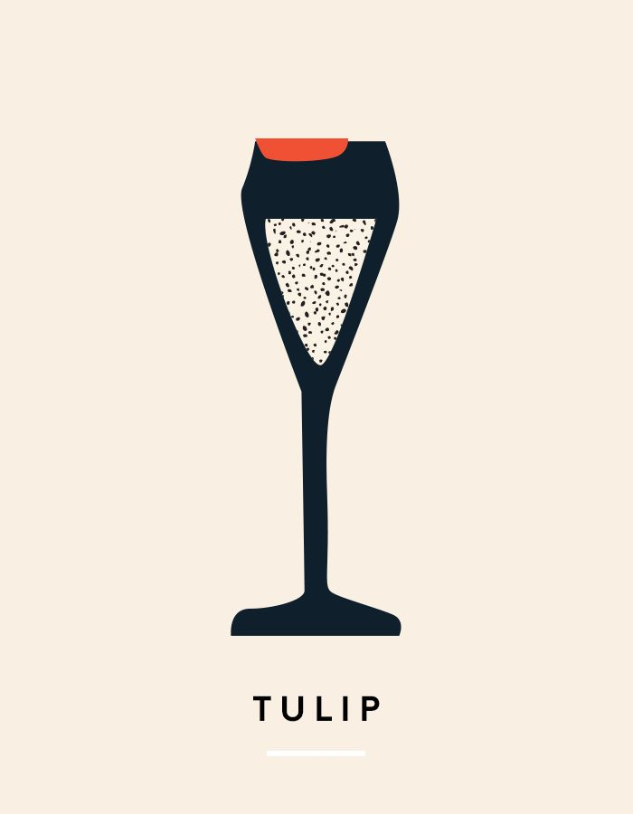 Much like the flute, the tulip glass will maintain the bubbles of sparkling wine or champagne. Its wider aperture allows the bubbles to flow more effortlessly to the palate, as opposed to hitting...