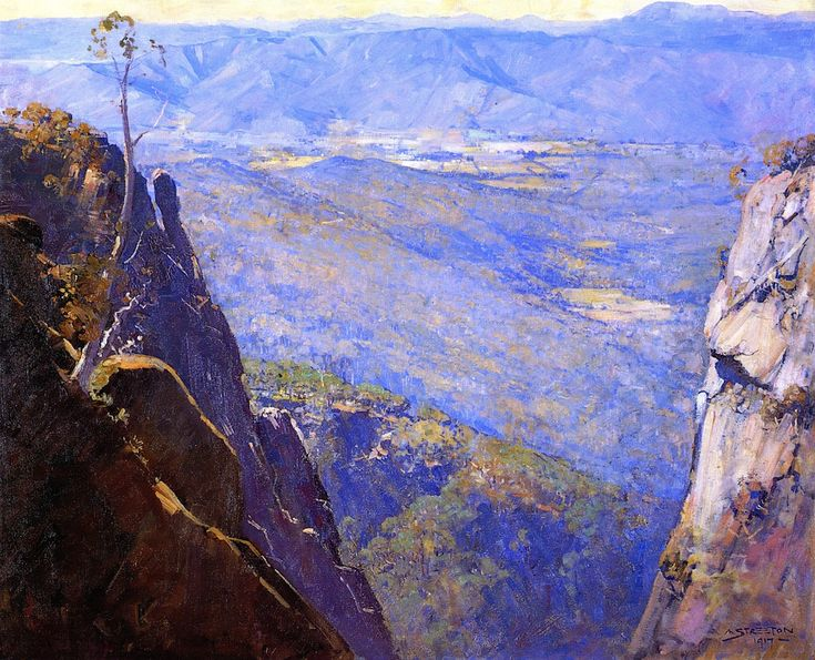 Blue Depths (Sir Arthur Streeton - 1917)