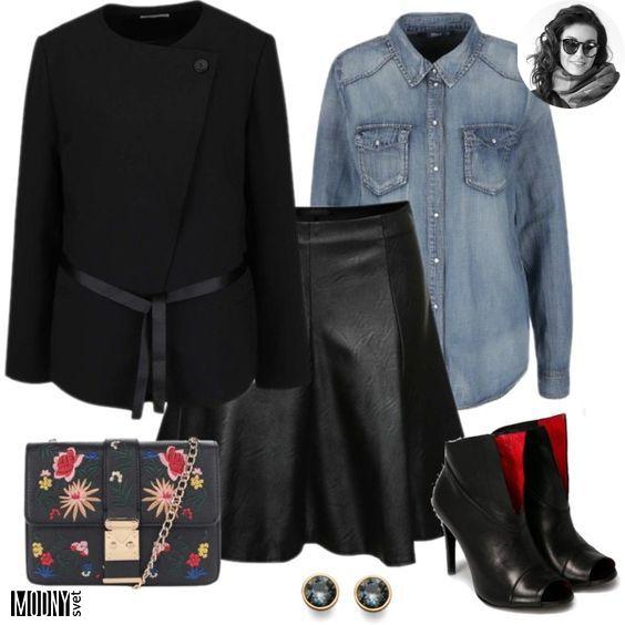 čierna koženková sukňa – MODNYSVET