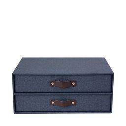 Byrå med två lådor Birger, Blue