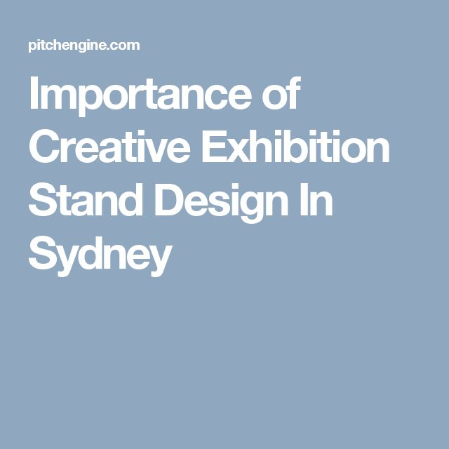 Importance of Creative Exhibition Stand Design In Sydney