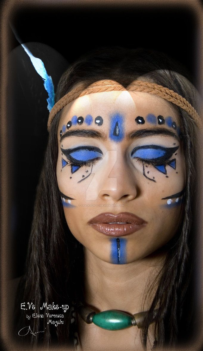 """I picked this image for a traditional Native American makeup for more outdoor theatre.   """"Warrior Princess""""-Tribal Make-up MUA/Model: E.Ve Make-up(by Elena Veronica Mazilu) Photography/editing: C.P.Axenoi E.Ve was truly inspired in the moment of """"creation"""" by the inka tribal warriors b..."""