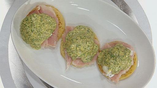 Green Eggs and Ham with Homemade Crumpets   Recipes   MasterChef Australia