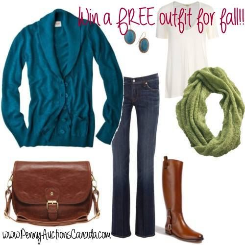 #win a free outfit for fall! You choose we pay! Check out details at www.PennyAuctionsCanada.com