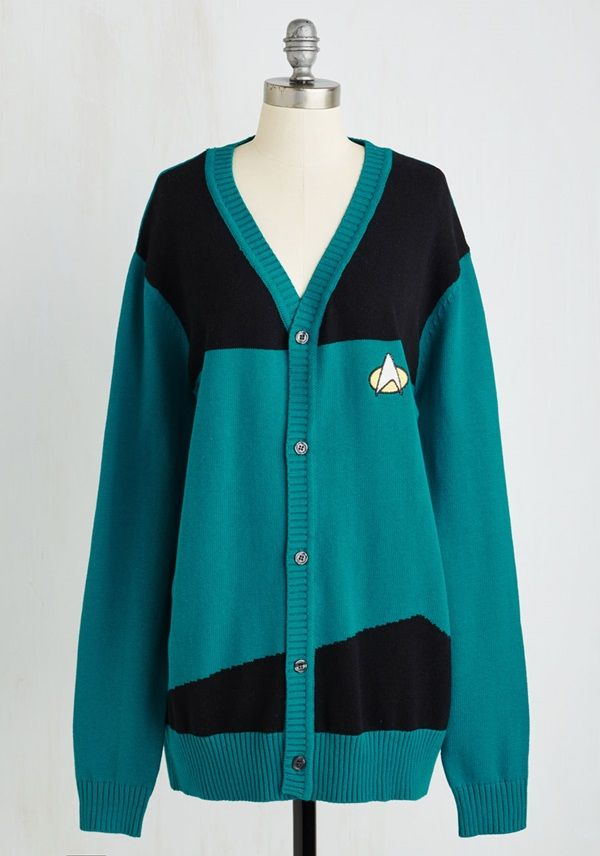 Star Trek TNG Uniform Cardigans For Starfleet Casual Fridays<< I'd definitely wear this to school