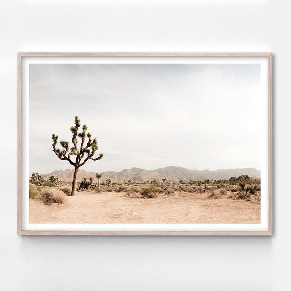 Joshua Tree Desert Print California Wall Art Southwestern Etsy In 2021 Boho Wall Art California Wall Art Tree Artwork