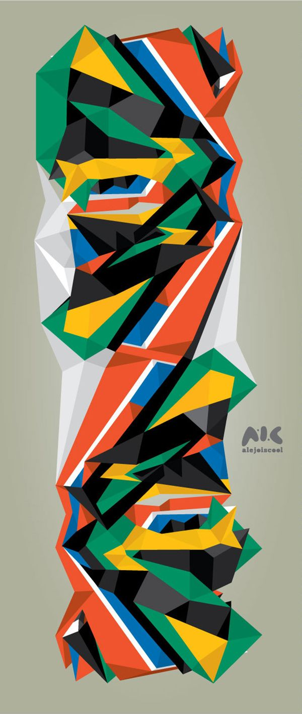 This is quite an interesting project by Alejandro Ribadeneira who explores the South African colours.