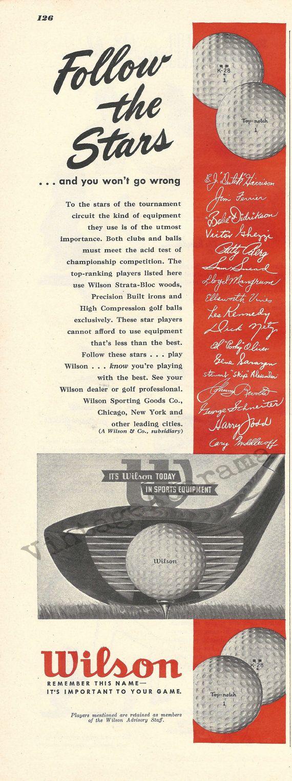 Wilson Golf Clubs & Balls Original 1948 Vintage by VintageAdarama, $9.99