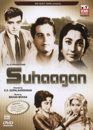 Suhagan Hindi Movie Online - David Abraham, Leela Chitnis, Guru Dutt, Nasir Hussain, Feroz Khan, Indrani Mukherjee and Om Prakash. Directed by K.S. Gopalakrishnan. Music by Madan Mohan. 1964 [U]