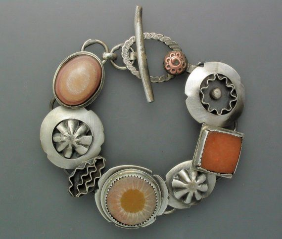 Handmade Sterling Silver Bracelet by Temi Kucinski on etsy.com.