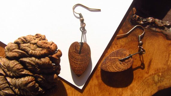 Love Trees Oak Earrings by FeralRoots on Etsy