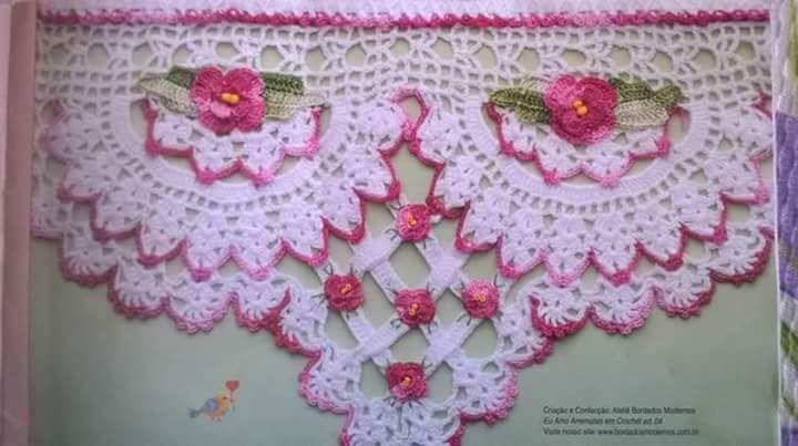 Três lindíssimos. modelos de bicos em crochê, maravilhosos.. - 23:57:09