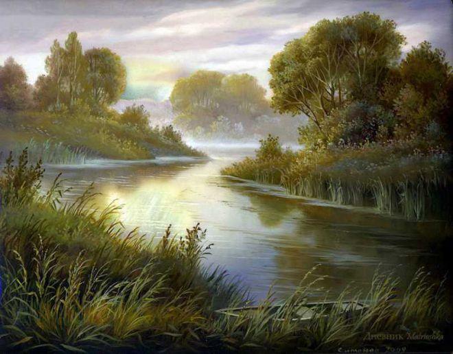 Природа в живописи «Федоскинские пейзажи»   живопись   Постила