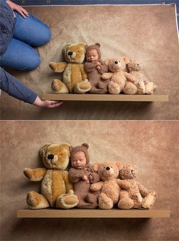 Bildergebnis für newborn photography baby on shelf by Makia55