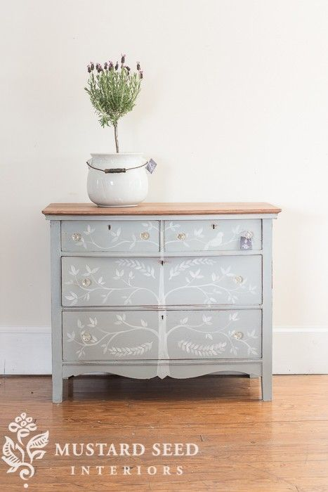 the dresser with the tree... - Miss Mustard Seed