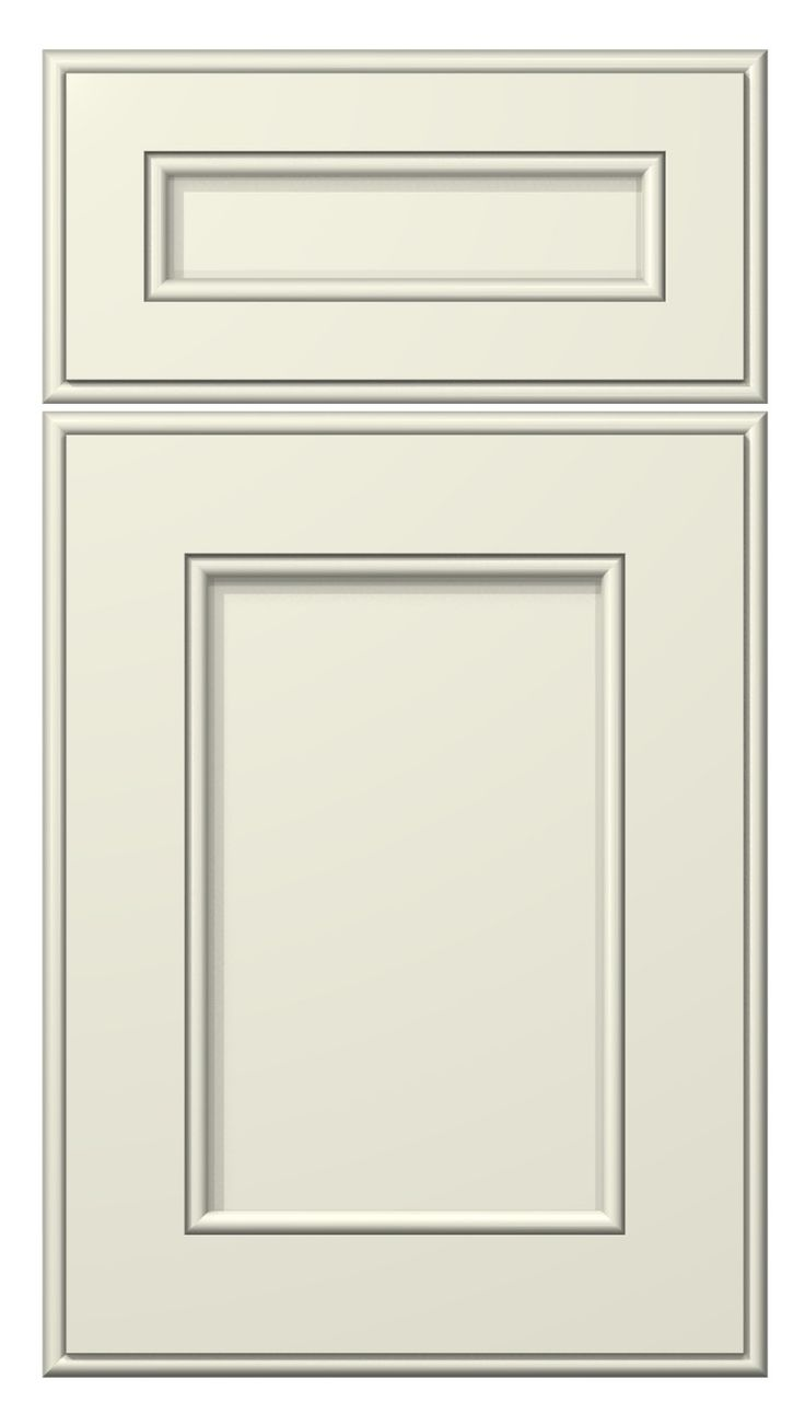 hudson door style :: painted :: antique white #kitchen #cabinets #doors